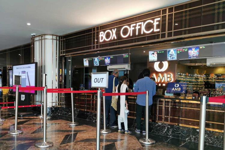 Ticket sales counter of a multiplex
