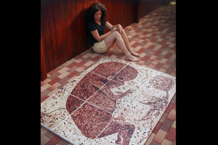 The Diary of My Period Romanian artist creates painting using her menstrual blood