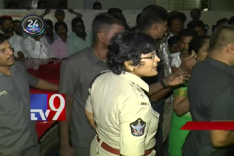 Dont do politics over dead bodies Watch this Andhra cop tick off an MLA
