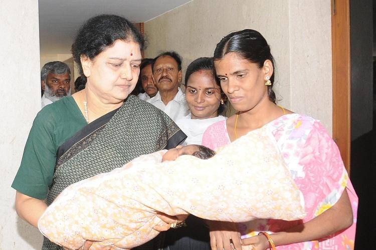 Sasikala names AIADMK cadres newborn as Jayalalithaa in memory of late CM