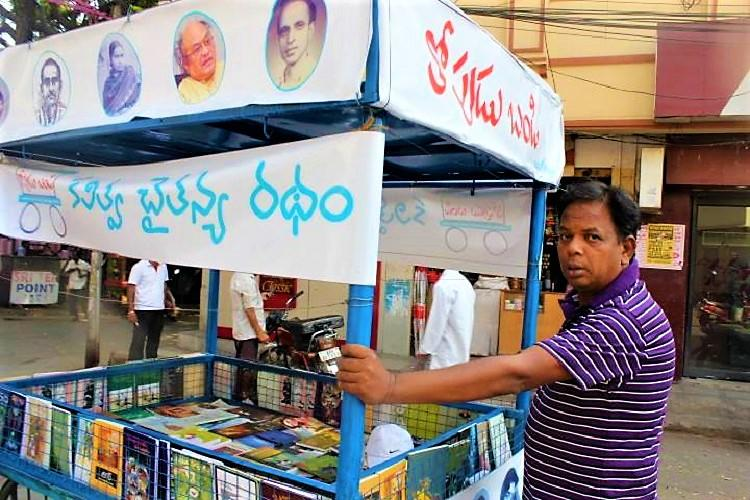 For the love of reading How this Telangana man uses a pushcart to promote books