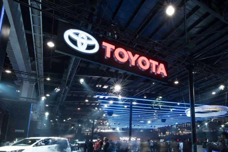 Toyota at the auto expo in 2018
