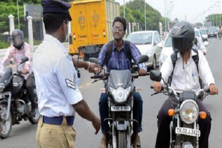 No more spot fine by city traffic police