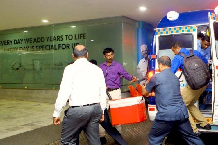 Organs being taken for transplantation