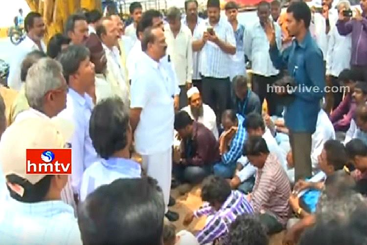 Kesineni woes Angry workers demand salary stage protest at Vijayawada office