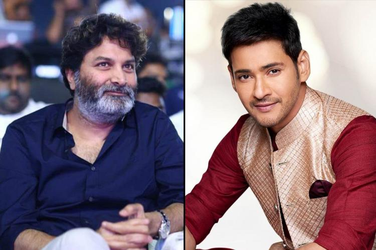 Director Trivikram on the left and actor Mahesh Babu on the right.