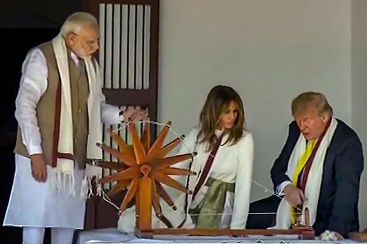 My great friend Modi What Trump wrote in the guest book at Sabarmati Ashram