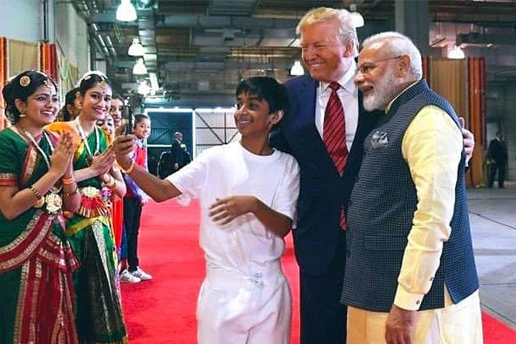 The 13-year-old boy who got a selfie with both Modi and Trump