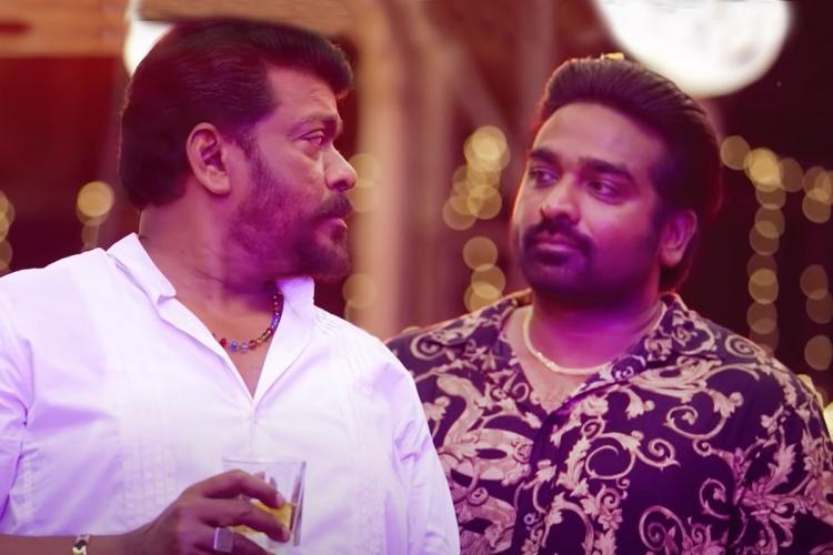 Parthiban and Vijay Sethupathi in the Tamil film Tughlaq Durbar