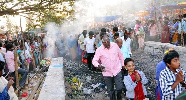 Fire-walking ban Karnataka CM unwilling for trial by fire