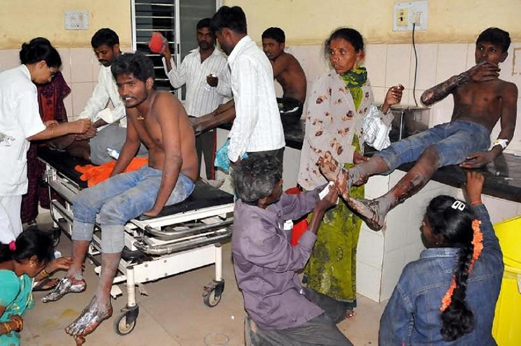 70 people sustain burns in Tumakuru fire-walking ritual on Mahashivratri