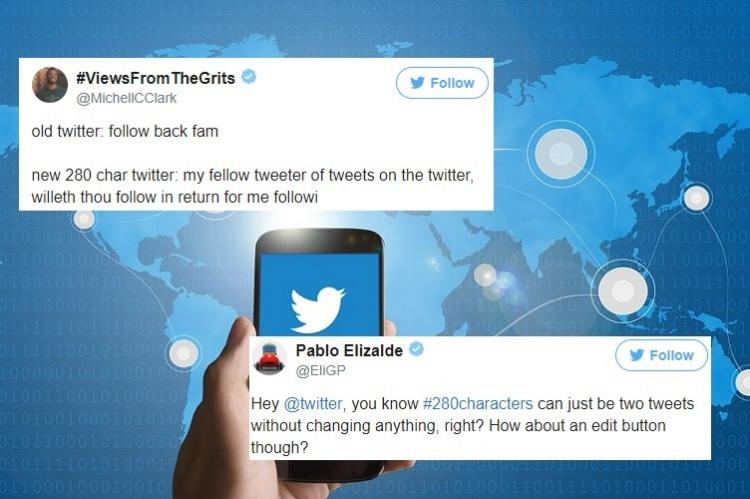Just give us the edit button Twitter reacts to new character limit of 280