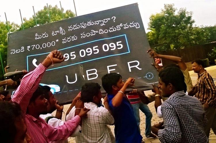 A mini-revolt against Uber in Hyderabad company says only small section of drivers dissatisfied