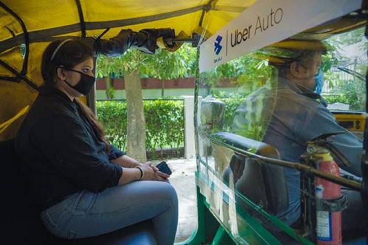 Uber Auto Driver Ratnesh Singh transporting a passenger in Gurgaon