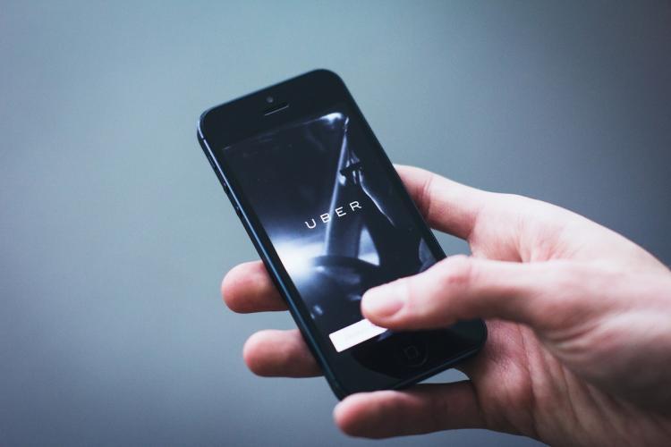 Uber app on mobile