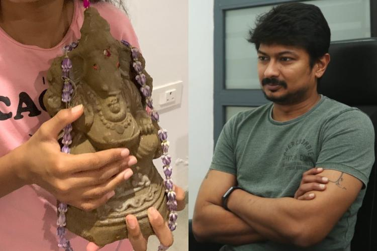 DMK Youth Wing Secretary Udhayanidhi Stalin has clarified after he tweeted an uncaptioned photo of a Vinayagar idol on Monday