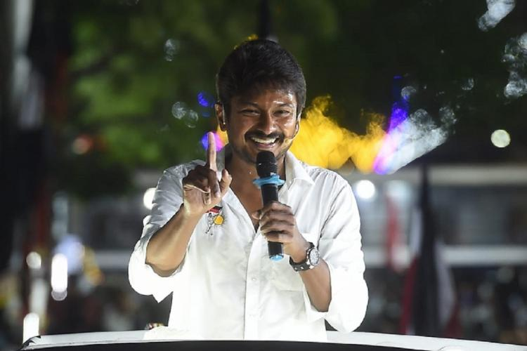 Udhayanidhi Stalin during his campaign
