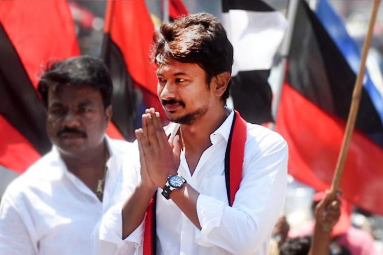 DMK youth wing secretary Udhayanidhi Stalin campaigning in Chepauk