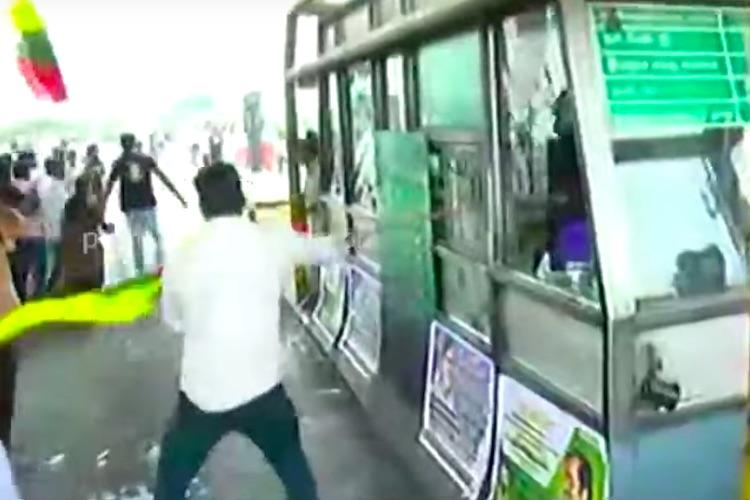 Wont pay tax to Centre until they set up CMB TVK members vandalise toll booths in TN