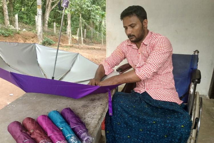 How social media helped 50 disabled persons in Kerala make a living by selling umbrellas