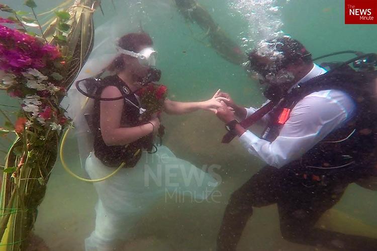 In Kerala When a Slovakian married a Maharashtrian under the Arabian Sea