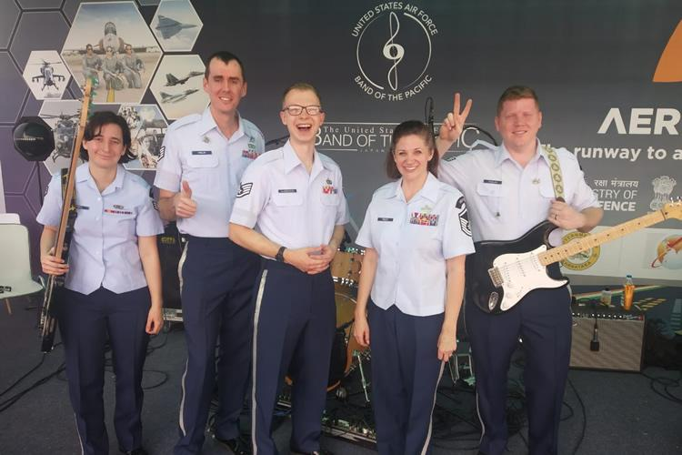 A musical connect This US Air Force band struck a chord with audiences at Aero India