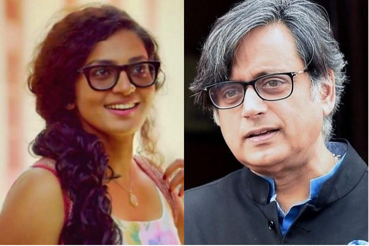 Shashi Tharoor tweets in support of Parvathy asks male actors to stand by her