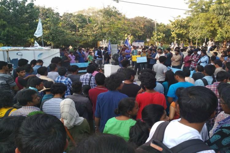 Hyderabad Uni authorises raid on hostels students reject order as undemocratic