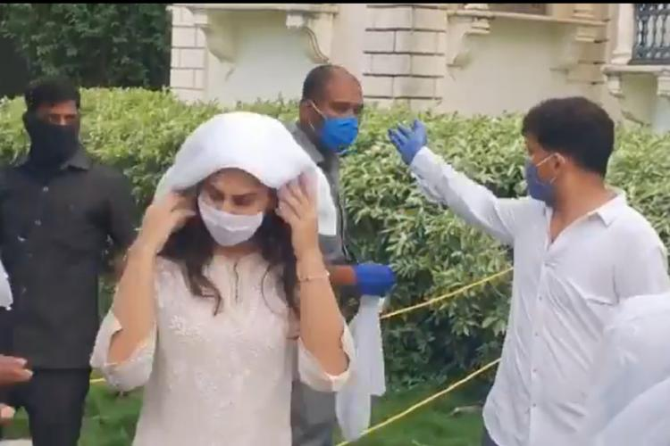 Bees attack Upasana Konidela during the funeral of her grandfather in Telangana