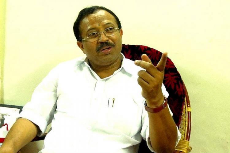 V Muraleedharan speaking in an interview