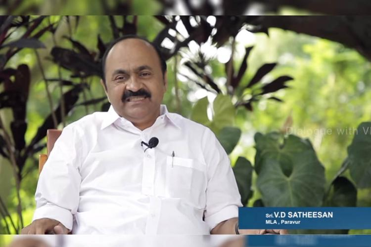 Screenshot of the talk show MLA VD Satheesan in photo