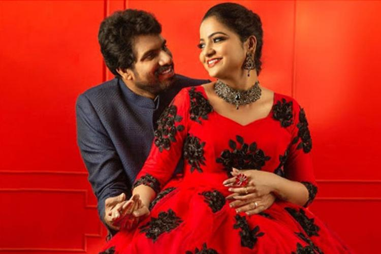 Actor and Video Jockey Chitra along with her husband Hemnath