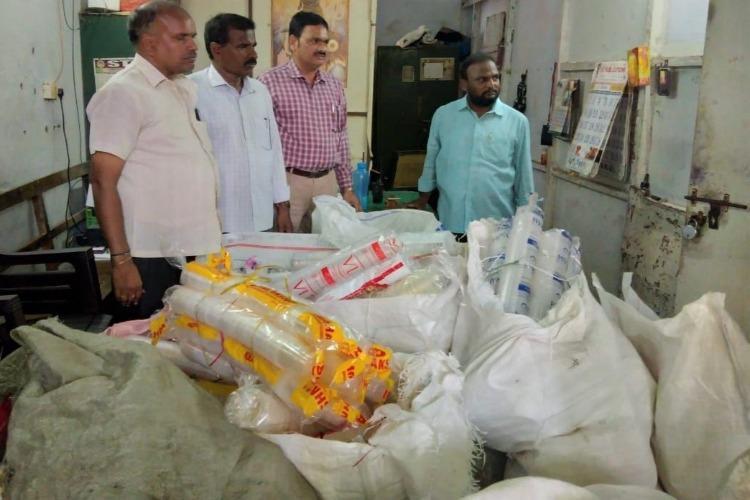 Plastic ban 700 kgs worth of disposable goods seized during raids in Vijayawada