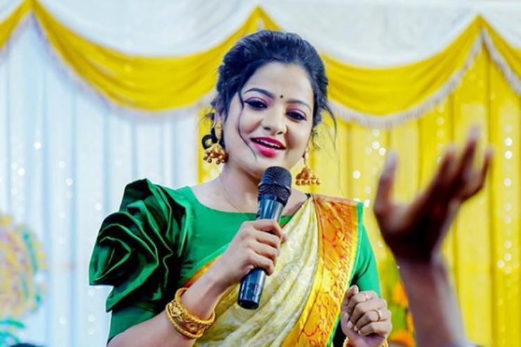 VJ Chitra on stage