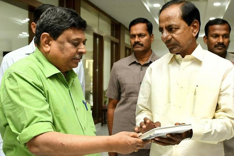 BJP demands apology from KCR for article on Governors by his