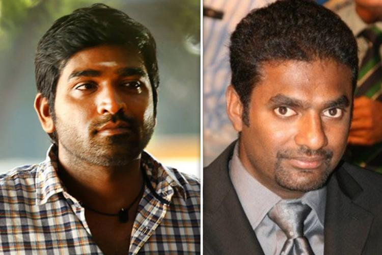 Collage of actor Vijay Sethupathi and bowler Muttiah Muralitharan for 800 movie