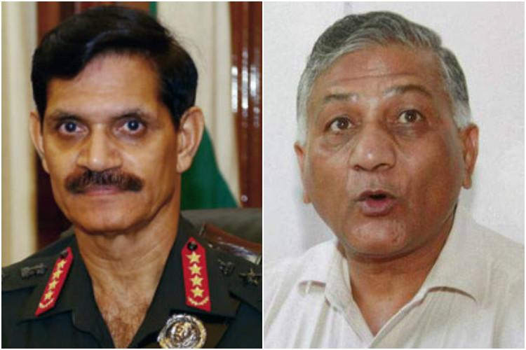 Army Chief Dalbir Singh alleges malafide intentions on part of VK Singh to resist his promotion