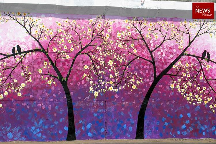 In pictures Vijayawada sports new look artists beautify city walls with murals