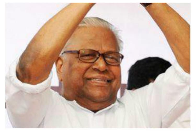 VS Achuthanandan joins CPIM campaign for Chengannur bye-poll attacks KM Mani