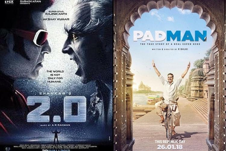 Akshay Kumar clarifies on 20 vs Padman box office clash
