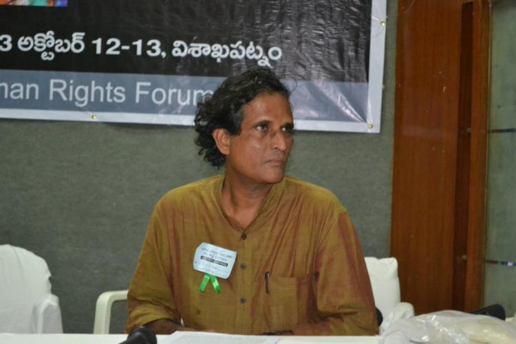 Photo of VS Krishna during a meeting hosted by HRF