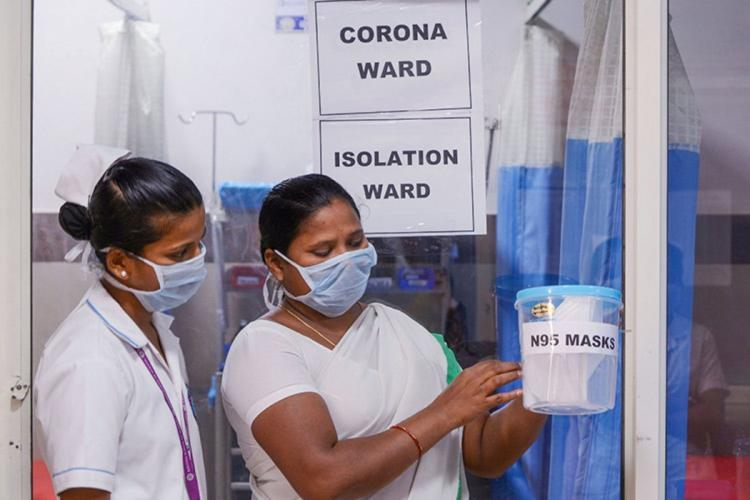 Nurses on duty at a COVID19 designated hospital in Andhra