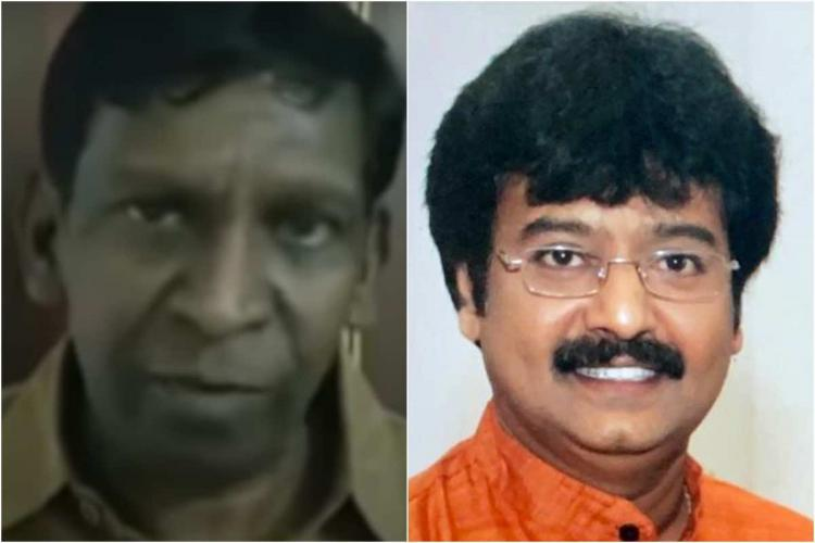 A collage of Vadivelu and Vivek