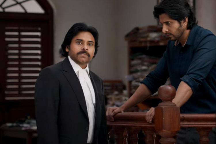 Pawan Kalyan is seen as a lawyer questioning the accused man in the trailer of Vakeel Saab