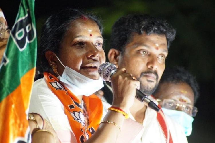 vanathi srinivasan on campaign trail in Coimbatore South