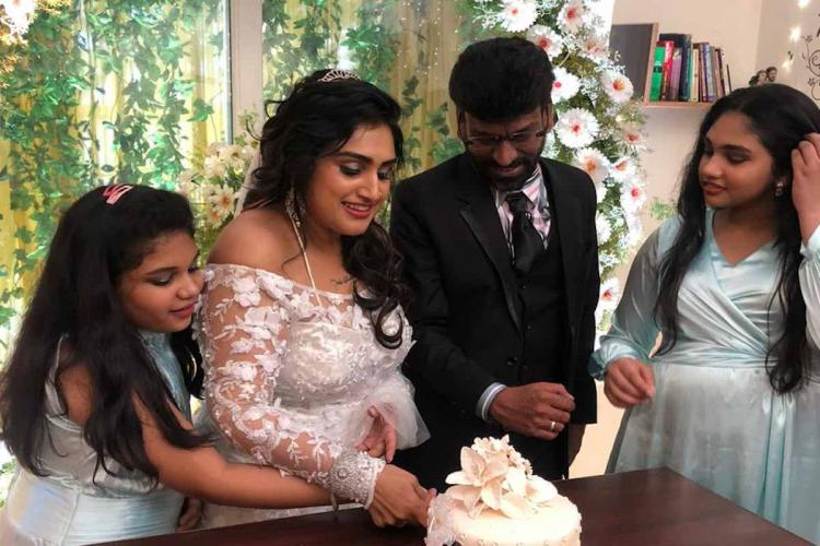 In pics Actor Vanitha marries Peter Paul in private ceremony at home
