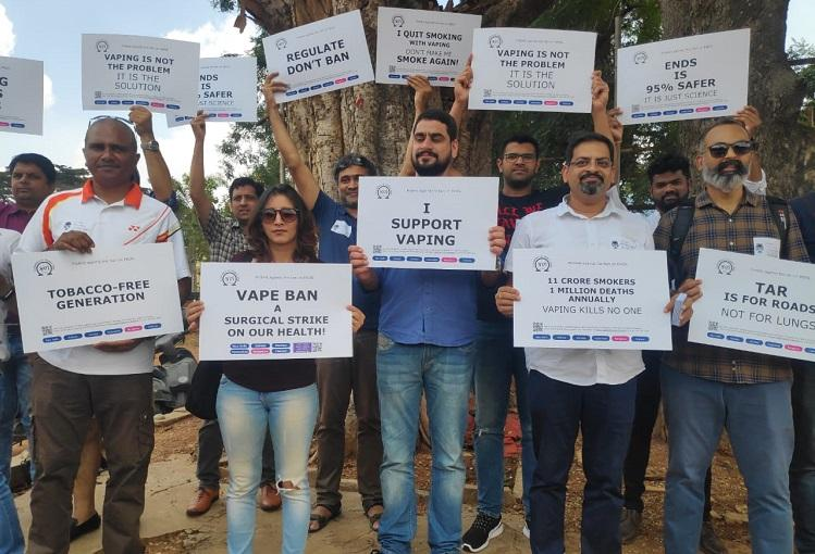 Vaping helped me quit smoking E-cigarette users in Bengaluru protest ban
