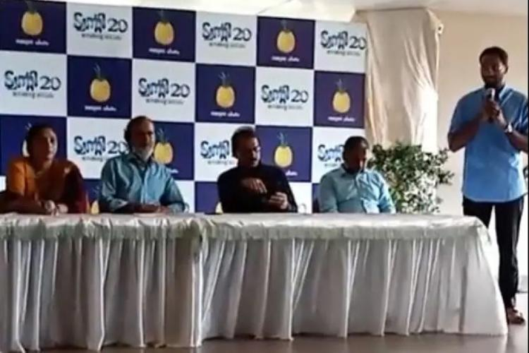 Press meet organized to announce Oommen Chandys son in law Varghese Georges entry to political party 2020