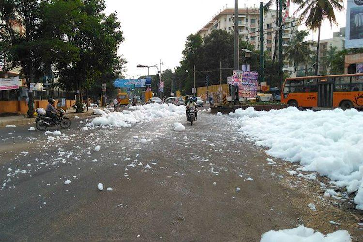 Bengaluru is a dystopian fairyland Clouds fly through streets as Varthur lake froths again