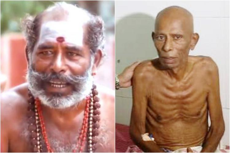 Thavasi collage from a still in a movie and in his video plea